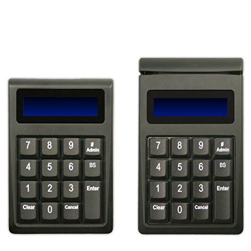 Idtech IDKE-534833ABE Secure Key M130 Encrypted Keypad with MagStripe Card Reader, USB-Keyboard, AES Encryption, Enhanced Encryption Format, 15 Key, 3 Track, Black (Reader Card Idtech)