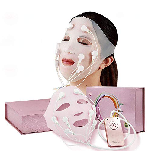 BLH-AMY Vibration Mask Cover Beauty Instrument Home V Face Lifting Mask Full Face Lifting Firming Wrinkle Facial Chin Cheek Lift SPA USB Charging