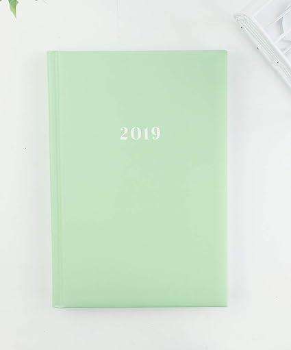 Casterli - Agenda Anual 2019 Día página - Básica pastel. (Verde Manzana)