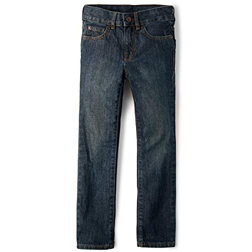 The Children's Place Big Boys' Straight Leg Jeans, Dry Indigo,7 (Children Place Clothes)