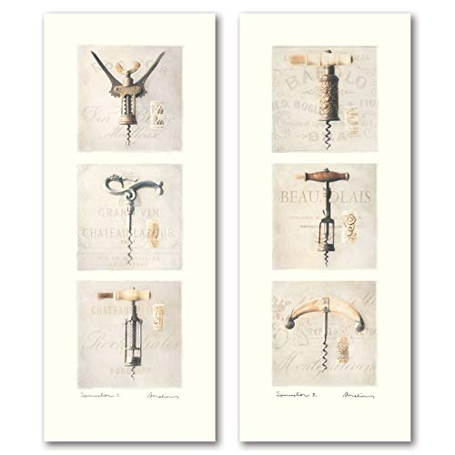 Vintage Corkscrew (Gango Home Decor Sommelier I Lovely, Vintage Cork Screw Wine Opener; Two 8X20 Paper Prints)