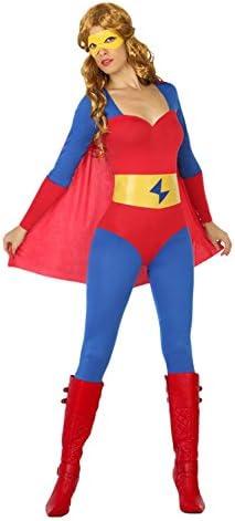 Atosa- Disfraz mujer super héroe comic, Color rojo y azul, XL ...