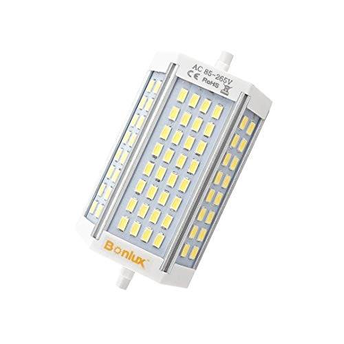 Bonlux 30W R7S J118 Dimmable Double Ended J Type LED Light Bulb R7S LED Floodlight 200W Halogen Replacement Lamp (Daylight 6000K, Pack of ()