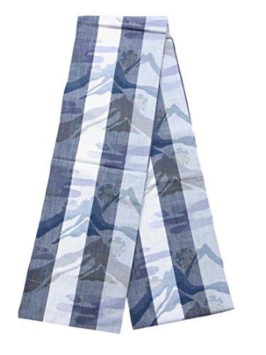アマチュア信頼区リサイクル 全通 袋帯 紬 縞にヱ霞と連山文 正絹