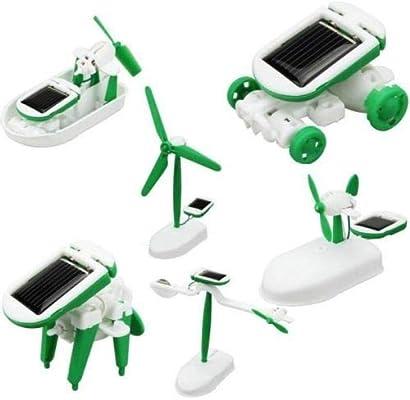 DIY 6 in 1 Educational Learning Power Solar Robot Kit Children Kids Toys Hobbies