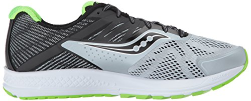 Saucony Mens Ride 10 Running-Shoes Grey Black 27