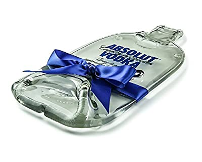 Absolut Vodka Melted Bottle Cheese Plate / Flattened Bottle Cheese Board / Eco Friendly Hostess Gift / Housewarming