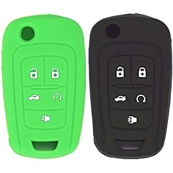 Amazon.com: WFMJ 2Pcs Black Green Silicone 5 Buttons Key ...