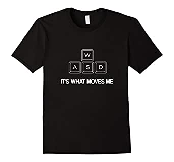 Men's WASD It's What Moves Me - Funny PC Video Gamer T-Shirt 3XL Black