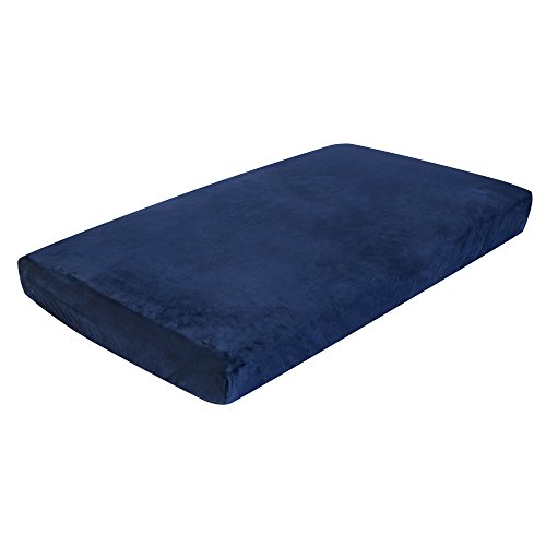 Luxe Basics So Softy Fitted Crib Sheet, Navy Blue (Best Chairs Inc Glider Rocker compare prices)