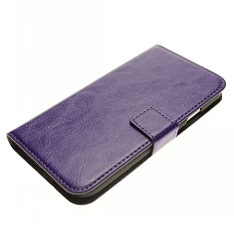 HJX Purple S3 i9300 New Arrival Crazy Horse Grain Leather Folio Wallet Credit Card Slot Case With Stand for Samsung Galaxy S3 (Avatar Stand Up)