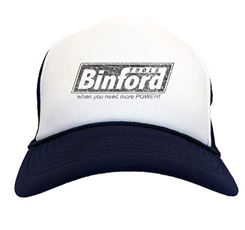 Binford Tools - TV Parody Funny Two Tone Trucker Hat (Navy Blue/White)]()