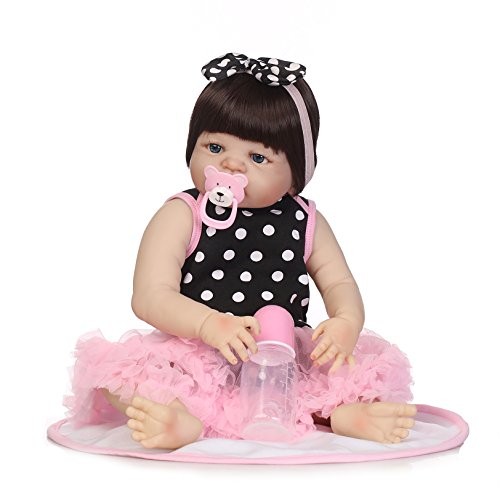 Body Toddler 57cm NPK Baby Sleeping 23inch Collectible Bathing Toy Collection Kids Girl Silicone Dress Full Playmate Colorful Girl Newborn Grwoth Reborn Dolls EpYxPrnwYq