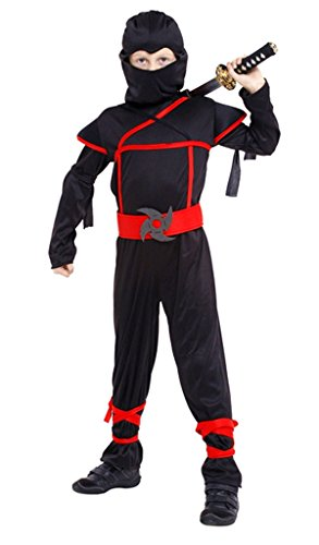 [Meeyou Stealth Ninja Costume for Children 5-10 Role Play (XL(10))] (Childrens Ninja Costumes)