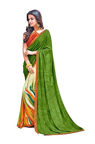 Party Wear Indian Green for Facioun Da Traditional Designer Sari Sarees Women Wedding Rq1xf0Uw