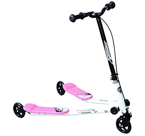HOMCOM Tri Scooter Children 3 Wheels Foldable Speeder Slider Winged Push Motion Black Aosom Canada