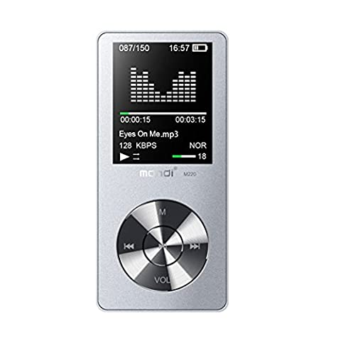 MYMAHDI 8GB Portable MP3 Player(Expandable Up to 128GB), Music Player/ One-key Voice Recorder/ FM Radio 70 hours playback with external speaker HD Headphone, (MP3 & Media Players)