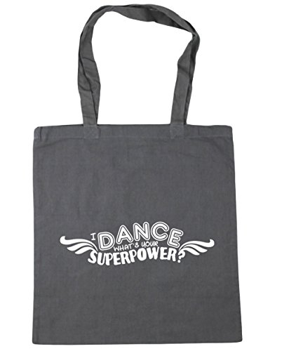 Beach Bag Shopping Gym 10 litres Grey What's 42cm Dance x38cm I Your Tote HippoWarehouse Graphite Superpower 4zfYf8
