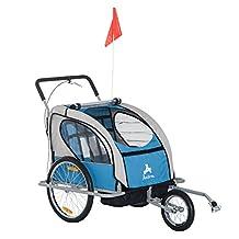 Aosom Elite 2-in-1 Double Child Bike Trailer/Jogger