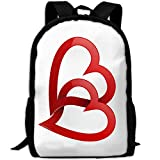 ZQBAAD Love Luxury Print Men and Women's Travel Knapsack
