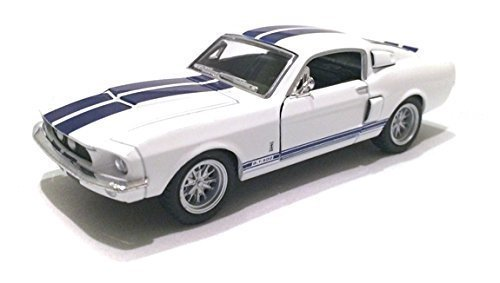 Scale 1/38 1967 Ford Shelby Mustang GT-500 diecast car White by Kinsmart ()