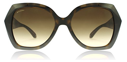 Bvlgari BV8182B 977/13 Dark Havana BV8182B Square Sunglasses Lens Category 3 - Bvlgari Sunglasses
