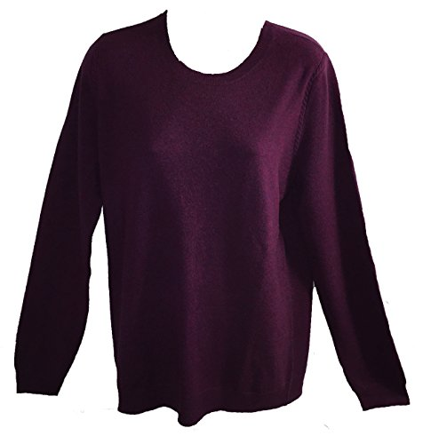 Magaschoni Womens Sweater (Magaschoni Women's V-Neck Sweater Lavanda Mouline, Large)