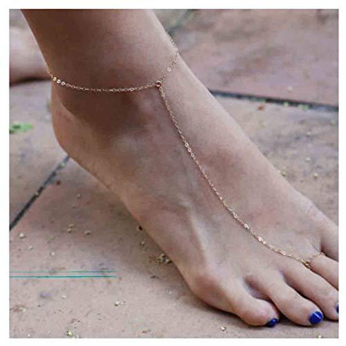 Olbye Gold Ring Toe Anklet...