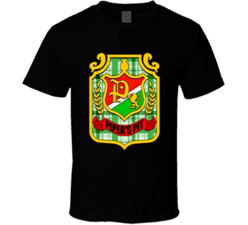 Rowdy Roddy Piper Piper's Pit Logo Wrestling T Shirt XL Black -