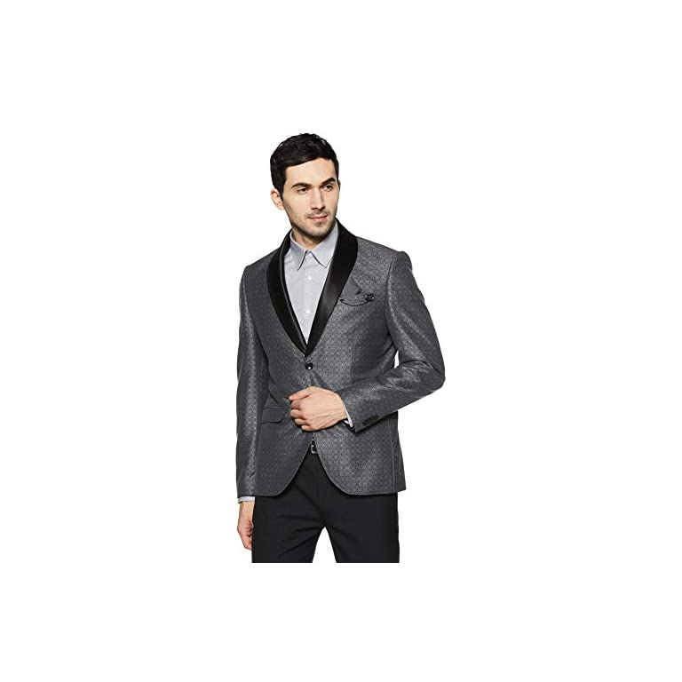 41db9E7NZAL. SS768  - blackberrys Men's Shawl Collar Slim Fit Blazer