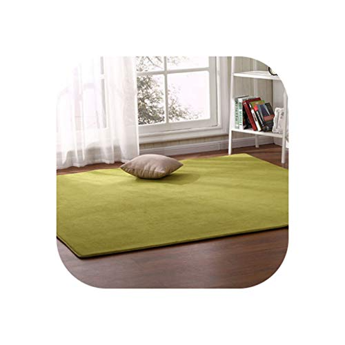 Outdoor Tent Bottom Pad Thick Coral Fleece Carpet Tatami Rug Bedroom Living Room Bay Window Blanket Crawling Mat,5,140 X200Cm