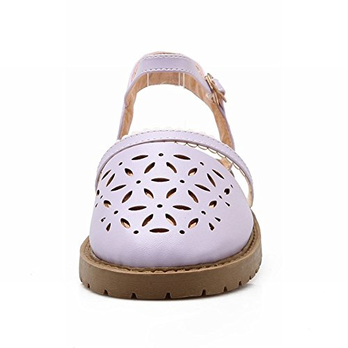 Mostrar Zapatos Shine Mujeres Fashion Sweet Slingback Flats Purple