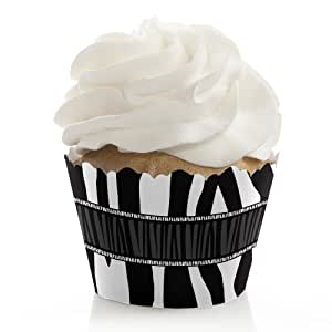 Zebra - Baby, Bridal Shower or Birthday Cupcake Wrappers - Set of 12