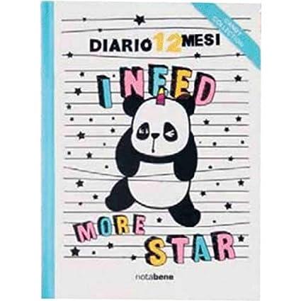 Notabene Baldo - Agenda 12 meses Panda 13 x 17,8 cm Candy ...