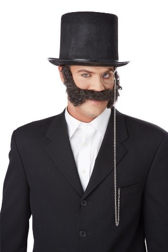 California Costumes Men's 19Th Century Mutton Chops, Dark Brown, One Size]()