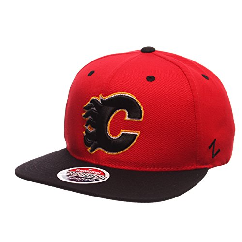 NHL Calgary Flames Men's Z11 Snapback Hat, One Size, Red