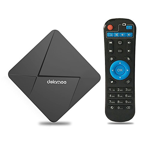 WEILY B28 Dolamee D5 Android TV Box, Android 5.1 Lollipop Os Streaming Media Players Support 4K Ultra TV with Rock Chip RK3229 Quad-core 2.4GB Wi-Fi - 1 Tv Gb