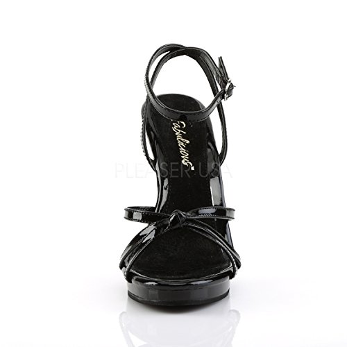 PleaserUSA Flair black patent High 436 Womens Heel Sandals qrUxPwFqS
