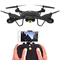 SPECTRE Drone with HD Video Camera - WiFi & App Live View - Auto Take-Off & Land - Aerobatic Flips - 6 Axis Gyro