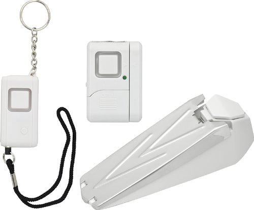 GE Personal Security Kit, Keychain/Doorstop/Window or Door Alarm, 120dB Siren, Easy to Use, No Wiring, Perfect for Home, Apartment, Dorm and Travel, 45216