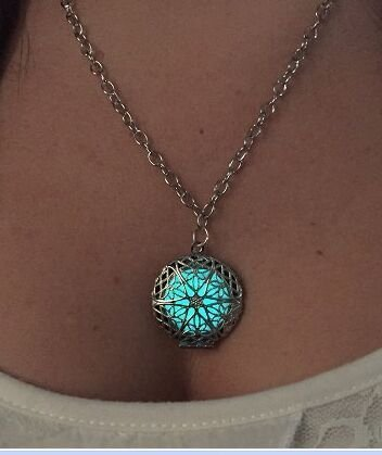 pendant charm locket Luminous Wicca Victorian goth choker for customers - Victorian Goth
