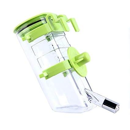 Silverxiel Botella de Agua portátil de plástico para Mascotas Que se alimenta de Perros No Hay