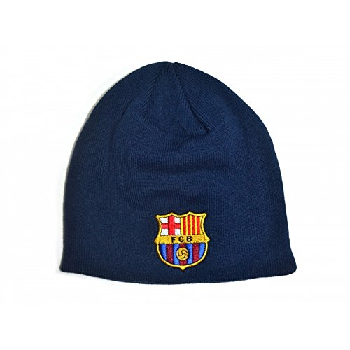 9cc8945aed2473 FC Barcelona Official Football Knitted Beanie Hat (One Size) (Navy)