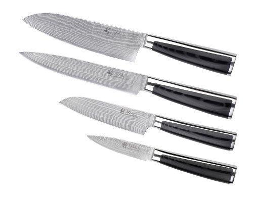 Wakoli 4pcs Damask Knife Set Japanese Damask Vg-10 Steel, Wakoli Migan by Wakoli