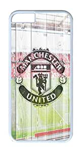 iPhone 6 Case, iPhone 6 Cover - Wood Manunited Print Scratch Protection Snap-on White Plastic Back Cover Case for iPhone 6 4.7 inch