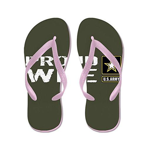 Cafepress Us Army: Trotse Vrouw (militair Groen) - Flip Flops, Grappige String Sandalen, Strand Sandalen Roze