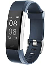 YAMAY Fitness Trackers,Fitness watch with Heart Rate Monitor Waterproof IP67 Smart Watches Pedometer Watch Activity Trackers Watch Step Counter for Kids Women Men Call SMS Push for iOS Android Phone