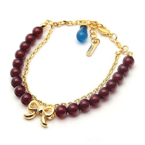 [Aznavour] Lovely & Cute Agnès Ribbon Bracelet / Violet #B082.