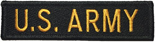 [U.S. Army US Military Tactical Name Tab Applique Embroidered Sew Iron on Emblem Badge Costume Patch - Black By Ranger Return] (Russian Costume Pattern)