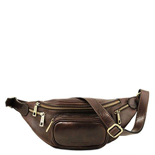 Riñonera Leather Oscuro Tuscany Marrón Oscuro en Piel Marrón aw5fxv